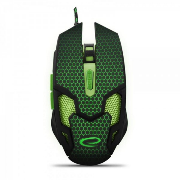 Мышь Esperanza EGM207G Cobra Black/Green USB