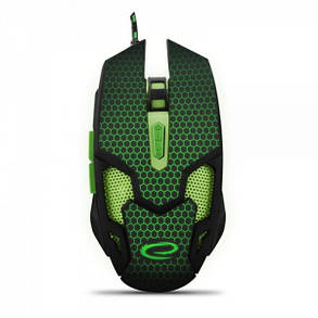 Мышь Esperanza EGM207G Cobra Black/Green USB, фото 2