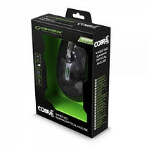 Мышь Esperanza EGM207G Cobra Black/Green USB, фото 3