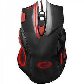 Мышь Esperanza MX401 Hawk (EGM401KR) Black/Red USB, фото 2