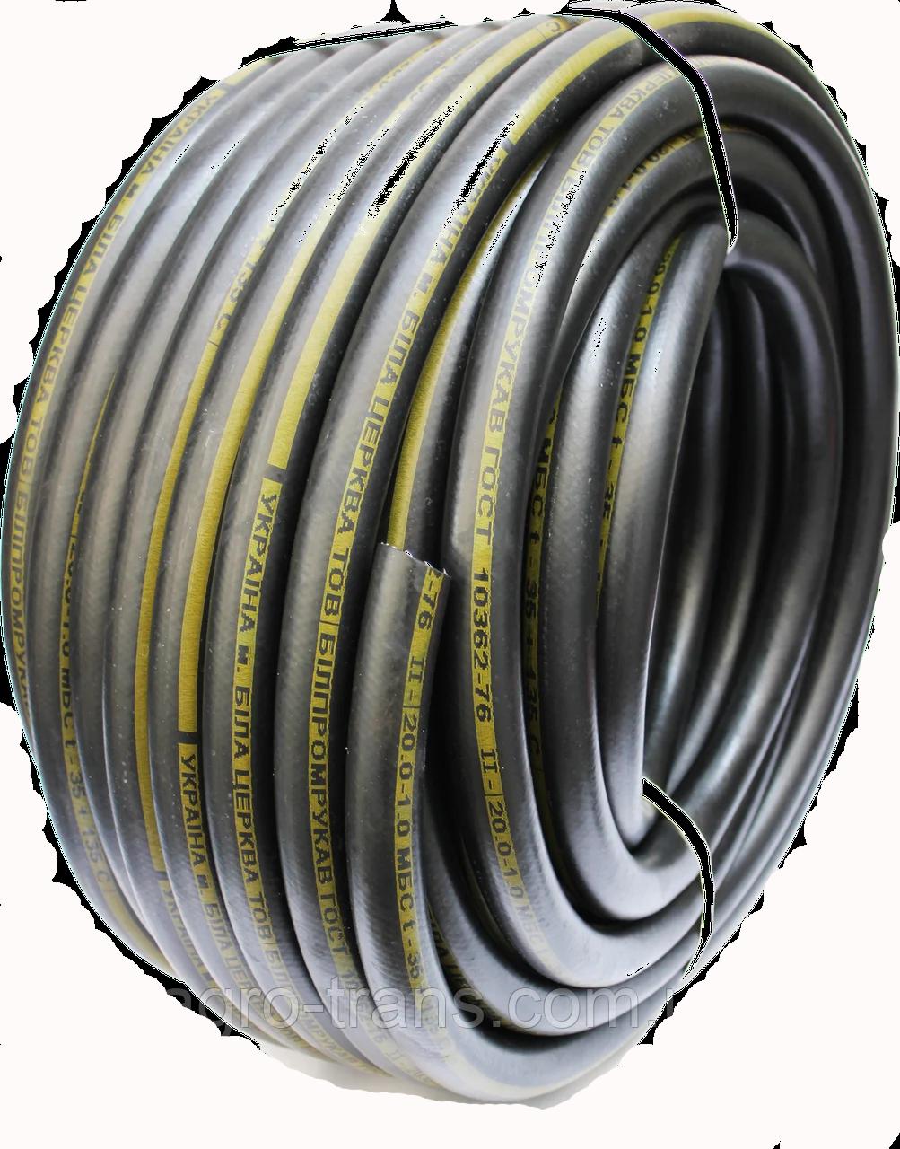 Шланг (рукав) напорный маслобензостойкий Ø 18мм диаметр.\ бухта 40м. армированный. Для бензина и масел