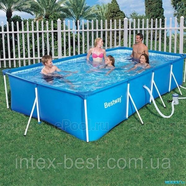 Bestway 56082 - прямоугольный каркасный бассейн 399x211x81 см