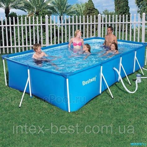 Bestway 56082 - прямоугольный каркасный бассейн 399x211x81 см, фото 2