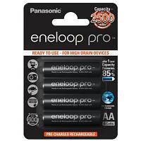 Акумулятор PANASONIC Eneloop Pro AA 2500mAh NI-MH * 4 (BK-3HCDE/4BE)