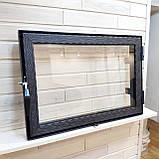 Дверца со стеклом для камина Hetta Neo 470*680, фото 2