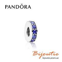 Шарм-разделитель СИНИЙ Pandora 791724NCB серебро 925 проба хрусталь Пандора оригинал