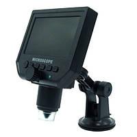 Цифровой микроскоп c 4.3 ЖК дисплеем, аккумулятором, MicroSD, 1-600X