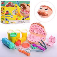 Детский игровой набор пластилин для лепки Мистер Зубастик Play Doh Стоматолог (Дантист)