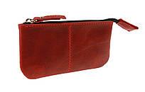 Ключница кожаная сумочка для ключей SULLIVAN k19(4) красная