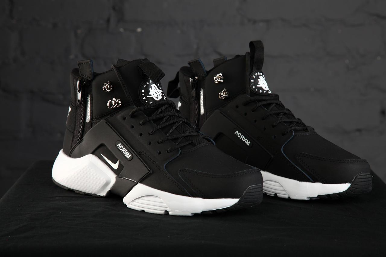 Зимові Чоловічі чорні Кросівки Nike Huarache Winter Acronym