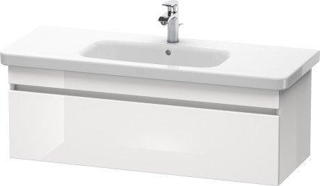 DURASTYLE тумба 113*44,8 см, підвісна, для умивальника 232012, з 1м висувним ящиком, колір білий глянець (22)