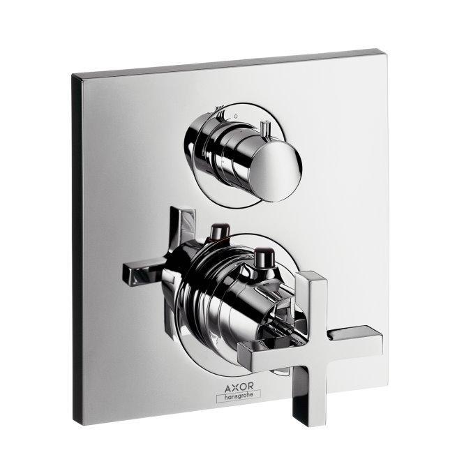 Термостат Axor Citterio з запірним/перемикаючим вентилем