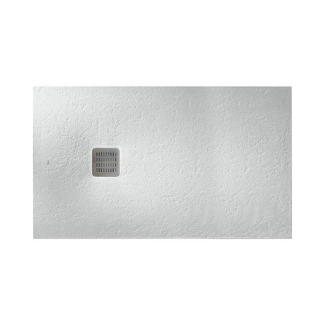 TERRAN поддон 120*80*2,8см, из искусств. камня STONEX, прямоугольный, с трапом и сифоном в комплекте, цвет