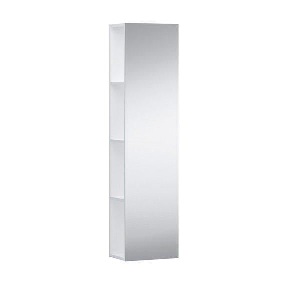 KARTELL тумба середня 300*200*1200мм, підвісна, фасад дзеркало, об. полички з обох боків, колір білий