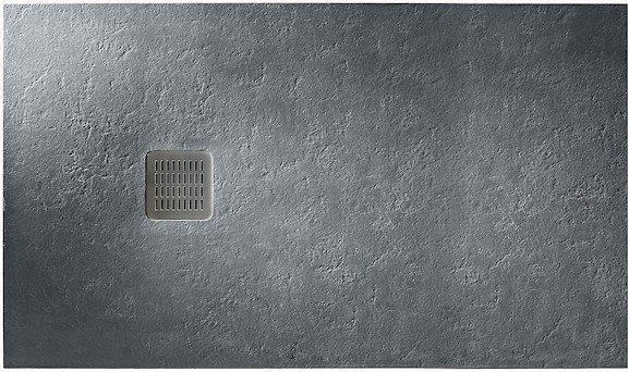 TERRAN піддон 120*80*2,8 см, з мистецтв. каменю STONEX, прямокутний, з трапом і сифоном в комплекті, колір