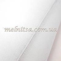 Фатин  белый,  жесткий, ширина 1,8 м