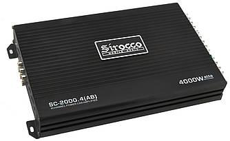 Автомобільний 4-канальний підсилювач звуку Sirocco SC-2000.4 (AB) 4000W Black (7580)