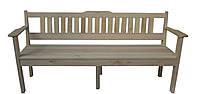 Деревянная лавочка, скамья для сада парка 200 см со спинкой и подлокотниками