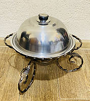 Садж для подачи шашлыка d28 + крышка