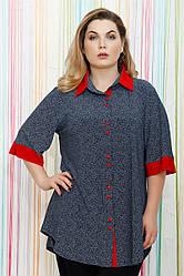 Рубашка трикотажная в мелкий горошек