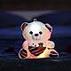 Светящийся, говорящий плюшевый мишка Тедди с сердцем, фото 3