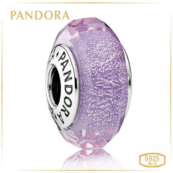 Пандора Подвеска-шарм с переливающимся пурпурным ограненным муранским стеклом Pandora 791651