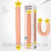 """Подвійний фаллоімітатор """"Double Dong"""" від Baile (довжина 36 см,діаметр 4.2 см.)"""