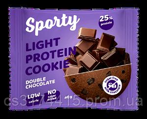 Протеиновое печенье Sporty Light Двойной Шоколад (40 грамм)