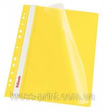 Скоросшиватель пластиковый с перфорацией А4 Esselte 13584 желтый