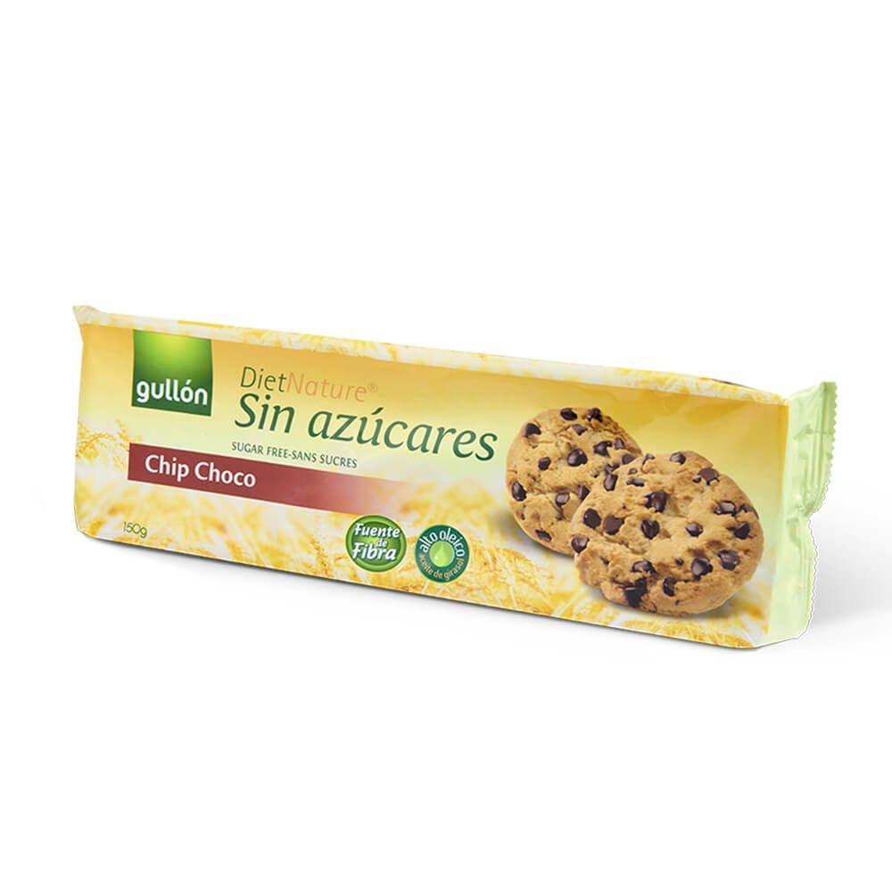 Печиво GULLON без цукру Diet Nature Chip Choco 150 г, 12 шт/ящ