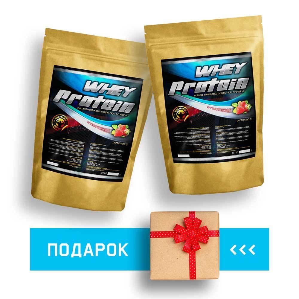 Мышечный рост: 4.0 кг Протеин + 1.0 кг в подарок сывороточный для набора массы | 60 дней