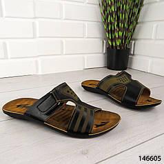 """Шлепанцы мужские, черные """"Estori"""" эко кожа, шлепки мужские, тапочки мужские, вьетнамки мужские, обувь летняя"""