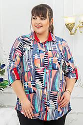 Рубашка Джульетта абстракция