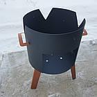 Очаг (печька) под казан, диаметр очага 33см, фото 4