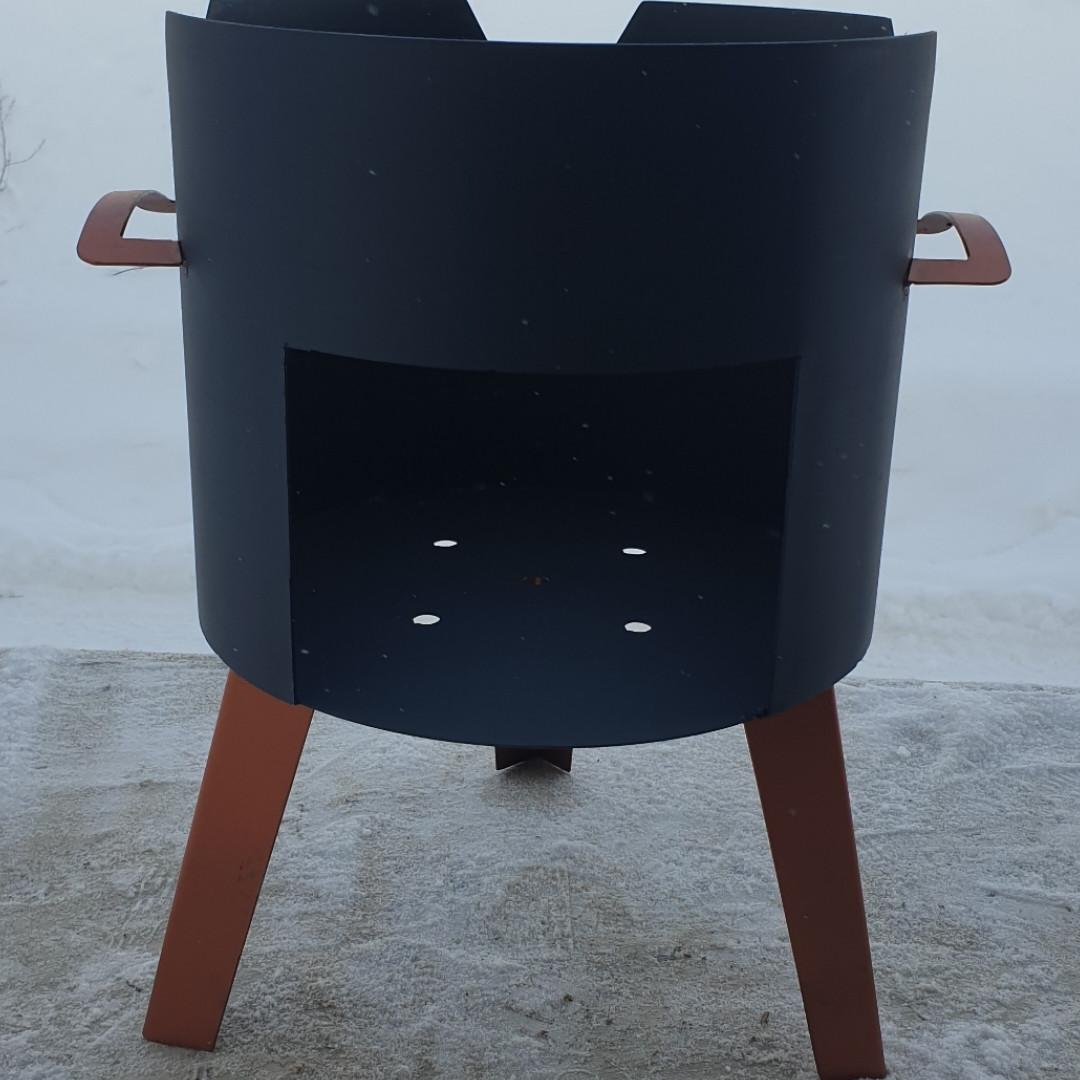 Очаг (печька) под казан, диаметр очага 33см