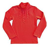 """Блуза для девочки """"Жабо"""", рост 104, цвет красный"""