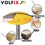 Пазова фасонна галтельна фреза з перехідною втулкою на 8мм VOLFIX FZ-120-240 d6, фото 4