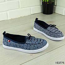 """Балетки женские, синие """"Jastude"""" текстильные, туфли женские, мокасины женские, женская обувь, фото 3"""