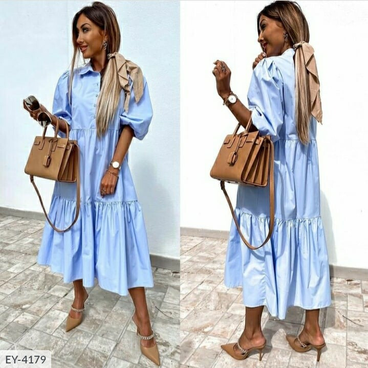 Довге плаття-сорочка