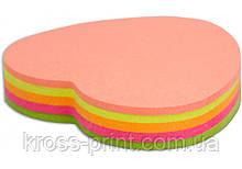 "Стикеры ""Сердце"" Economix , 45х50, 4 цвета, 80 листов"