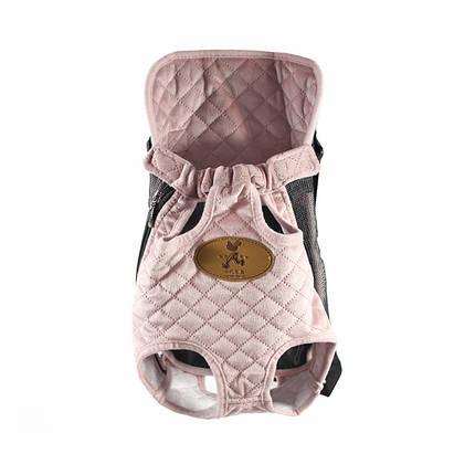 Рюкзак-кенгуру для животных Hoopet HY-2041 Pink M сумка переноска, фото 2