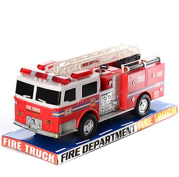 Пожарный грузовик звук сирены, мигалки, лестница 36см