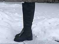 Кожаные женские сапоги Foletti 45-35 ч/к размеры 37,41, фото 1