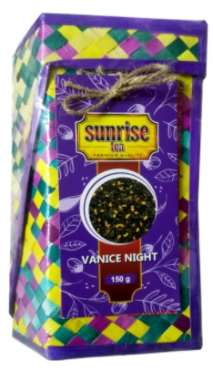 Чай черный и зеленый Sunrise Венецианская ночь с клубникой, манго и ананасом 150 г