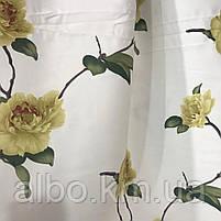Щільна атласна шторна тканина з квітами, висота 2.8 м на метраж, фото 2