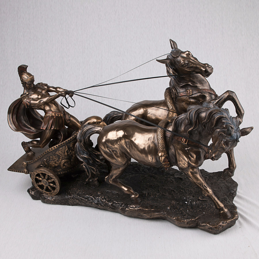 """Статуэтка """"Римский воин на колеснице"""" (62*45 см) (72706 A4)"""