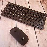 Беспроводный клавиатура и мышка комплект UKC черный для ПК компьютера и ноутбука (Оригинальные фото)