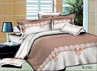 Евро комплект постельного белья  в пастельных тонах. Ткань Рейнфорс