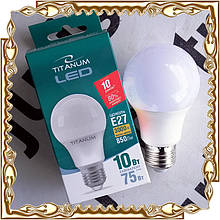 Лампочка світлодіодна TITANUM A60 10W E27 3000K 220V, тепле світло (TL-A60-10273)