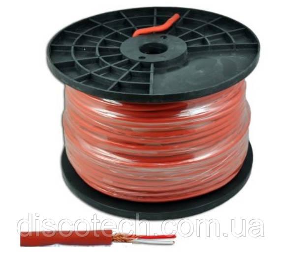Кабель микрофонный Azusa KAB0605B, стерео, 6 мм, 100 м красный